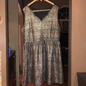 Sparkly Silver Party Dress
